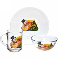 Набор для завтрака ″Снеговик с подарками″ D10327/1+D10341/1+D1335/1 купить оптом и в розницу