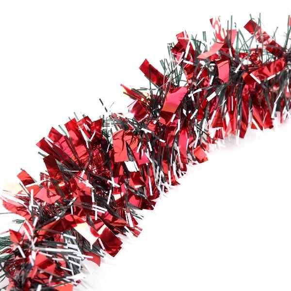 Мишура 2м 9см ″Красные огоньки″ красный купить оптом и в розницу