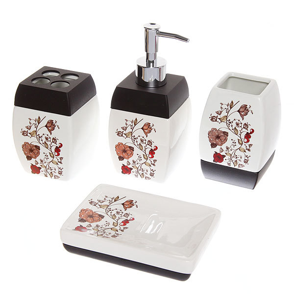 Набор для ванной из 4-х предметов керамический B17489 купить оптом и в розницу