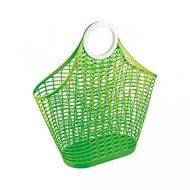 Корзина-сумка пл зеленый (Октябрьский)*14 купить оптом и в розницу
