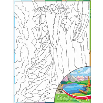 Набор ДТ Роспись по холсту Горы у озера Х-0334 купить оптом и в розницу
