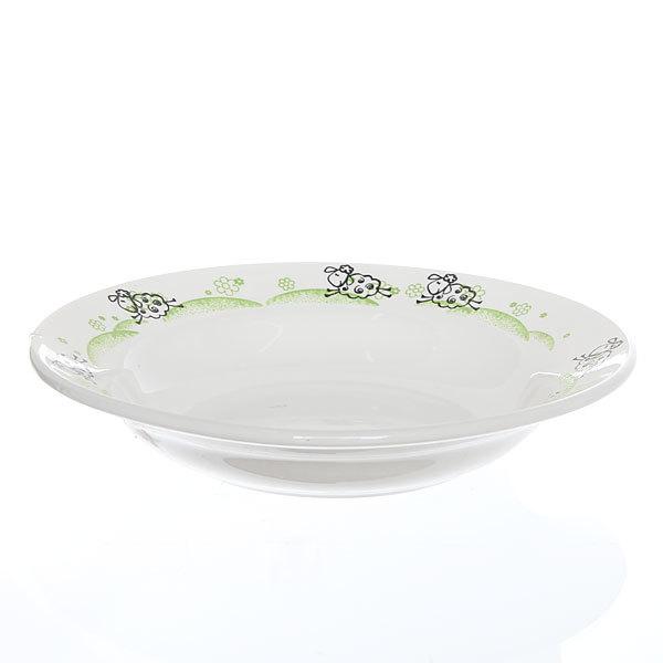 Тарелка керамическая 20 см глубокая Барашки 1/24 СК_055 Д купить оптом и в розницу