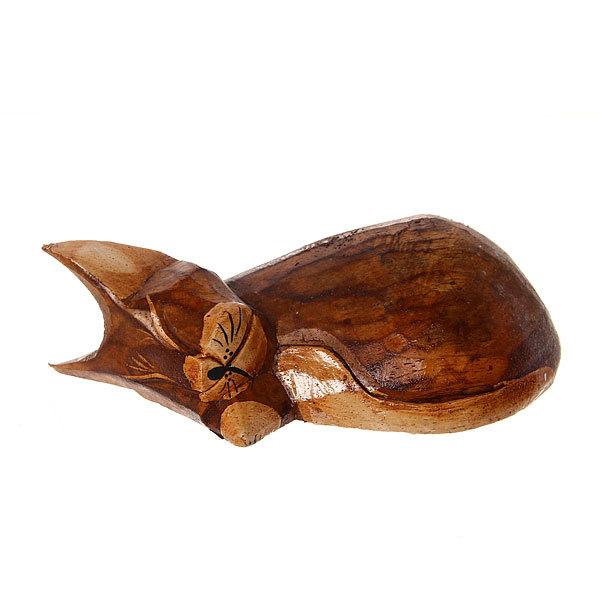 Фигурки из дерева ″Кошки спящие 3шт″, 10,15,20 см купить оптом и в розницу