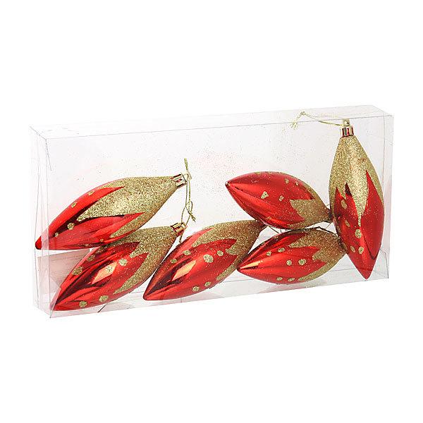 Ёлочные игрушки, набор 6шт, 8см ″Сосулька золотые капли″ купить оптом и в розницу