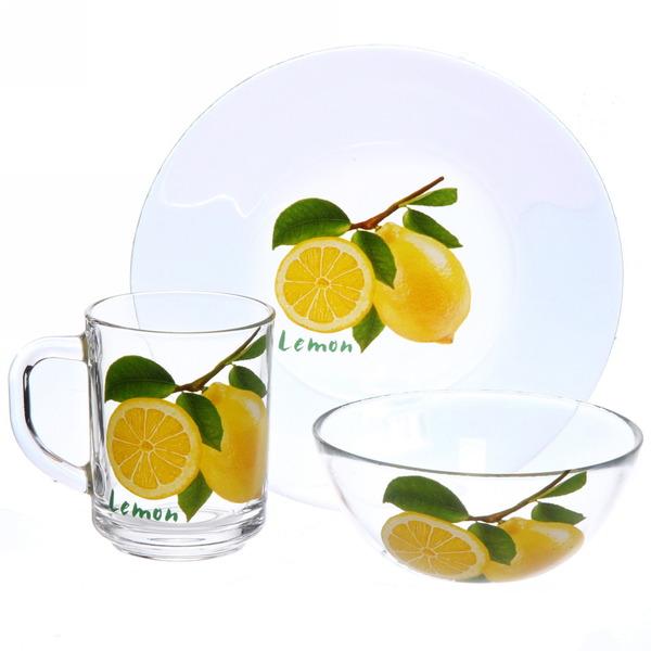 Набор посуды для завтрака ″Лимон″ 3 купить оптом и в розницу