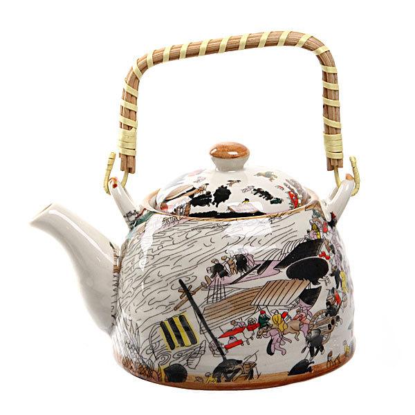 Чайник заварочный керамический 450 мл с ситом ″Переправа″ ХХ661 купить оптом и в розницу