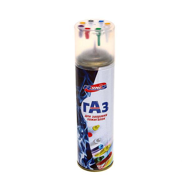 Газ для зажигалок ″RUNIS″ Premium, металлический баллон (с переходниками) 210мл (1-005) купить оптом и в розницу
