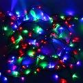 Гирлянда светодиодная уличная 11,5 м, 100 ламп LED Мультицвет, 8 реж, зелен.пров. купить оптом и в розницу