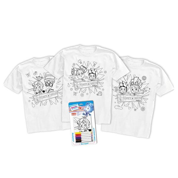 Набор ДТ Раскрась футболку Фиксики рост 122-134 см 02317 купить оптом и в розницу