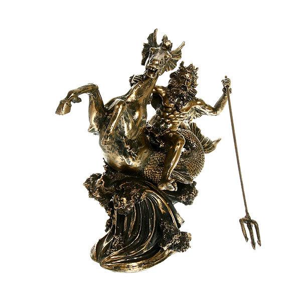 Статуэтка из полистоуна античная Посейдон на коне 9672 (бронза) купить оптом и в розницу