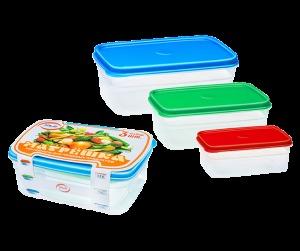 """Набор контейнеров """"Матрёшка"""" №1 (3 шт) прям. 1/30 купить оптом и в розницу"""