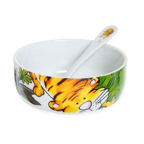 Набор детской посуды 5 предметов ″Тигренок″ купить оптом и в розницу