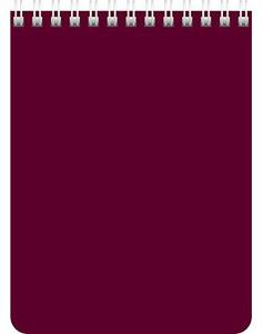 """Блокнот А6 60л.кл.гребень,карт.обл.HATBER, """"Бордо"""" купить оптом и в розницу"""