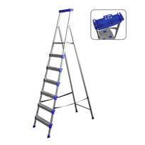 Стремянка металлическая 7 ступеней, высота до платформы 1505 мм, вес 10,1 кг, до 150 кг СМ7 НИКА купить оптом и в розницу
