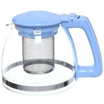 Чайник заварочный стеклянный 900 мл голубой купить оптом и в розницу