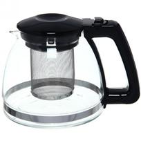 Чайник заварочный стеклянный 900 мл черный купить оптом и в розницу