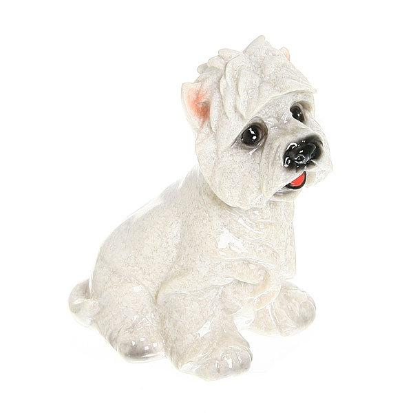 Статуэтка из полистоуна ″Собачка терьер мраморный″ 11,5*7см 1667 купить оптом и в розницу