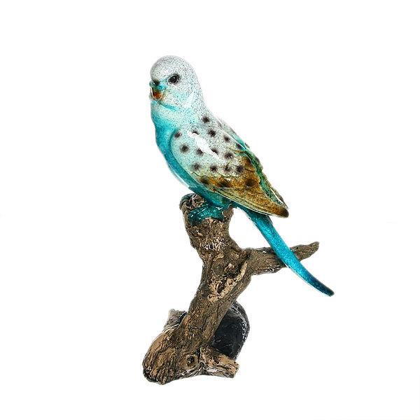 Статуэтка из полистоуна ″Волнистый попугайчик на ветке″ 22*14см купить оптом и в розницу