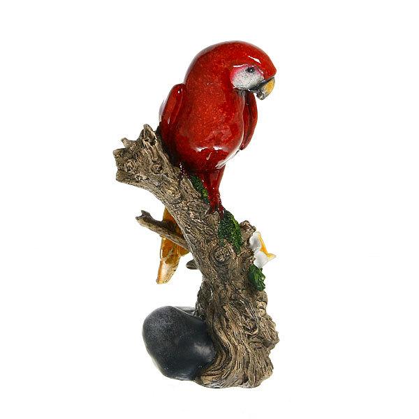 Статуэтка из полистоуна ″Волнистый попугайчик на ветке″ 22*11см купить оптом и в розницу
