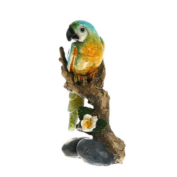 Статуэтка из полистоуна ″Волнистый попугайчик на ветке″ 17*10см купить оптом и в розницу