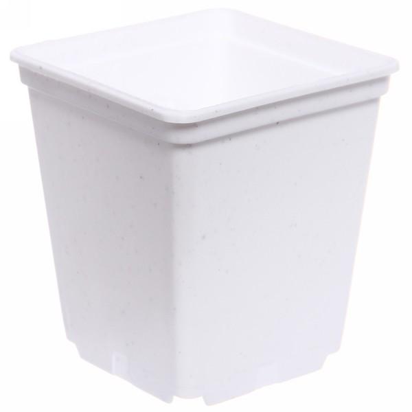 Горшок для рассады квадратный белый 0,25л 7*7*8 см купить оптом и в розницу