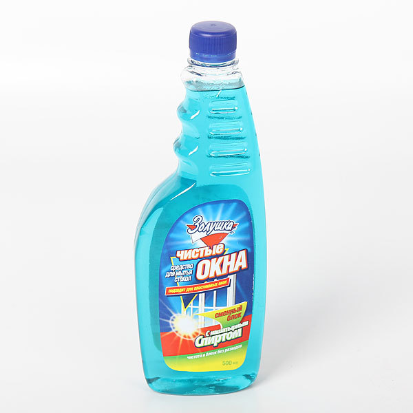 Средство для мытья стекол ЗОЛУШКА Чистые окна с нашатырным спиртомм сменный блок 500мл Ч21-8 купить оптом и в розницу