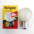 Лампа накаливания Navigator NI-С-60Вт-E27-230В-FR матов.сфера (10/100) купить оптом и в розницу