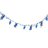 Бусы на ёлку синие 1,5м ″Колокольчики, шишки и звездочки″ купить оптом и в розницу