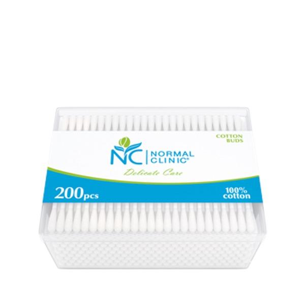 Ватные палочки 200шт ″NORMAL″ cliniс в круглой коробке купить оптом и в розницу