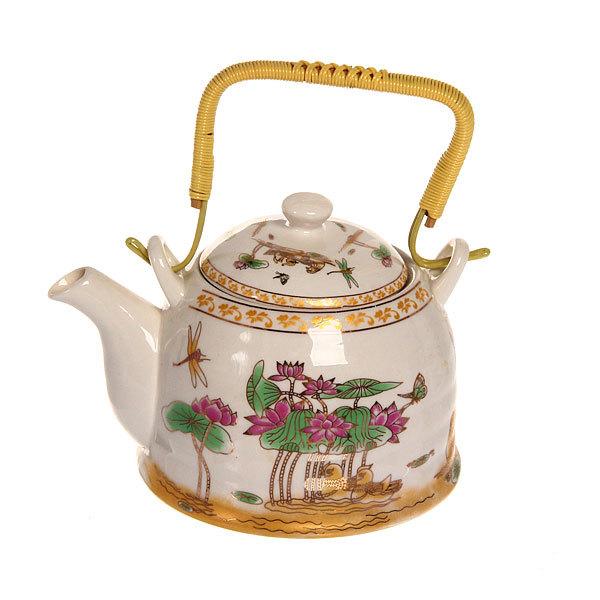 Чайник заварочный керамический 750 мл с ситом ″Лотос″ 3 купить оптом и в розницу