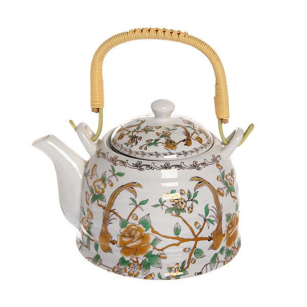Чайник заварочный керамический 750 мл с ситом ″Птицы″ 1 купить оптом и в розницу