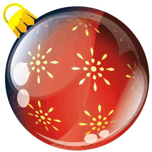 Наклейка круг цветная D 50 мм ″Новогодний шар, вид 2″ (полимер) купить оптом и в розницу
