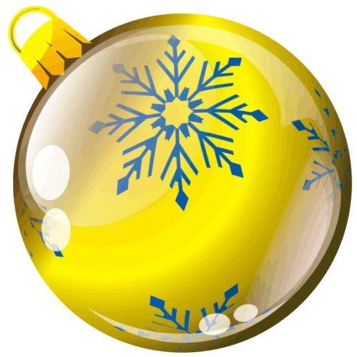 Наклейка круг цветная D 50 мм ″Новогодний шар, вид 5″ (полимер) купить оптом и в розницу