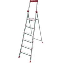Стремянка алюминиевая 6 ступеней, высота до платформы 1405 мм, вес 5,8 кг, до 150 кг СА6 НИКА купить оптом и в розницу