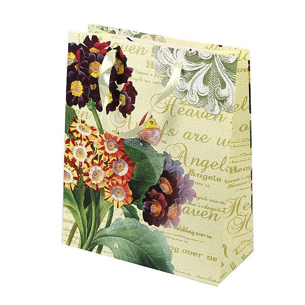 Пакет подарочный ″Цветы″ 26*32*12 купить оптом и в розницу