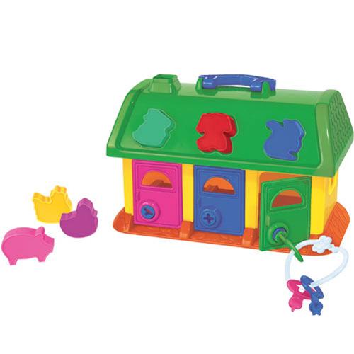 Логич.игрушка Домик для зверей в сетке 9166 /П-Е/9/ купить оптом и в розницу