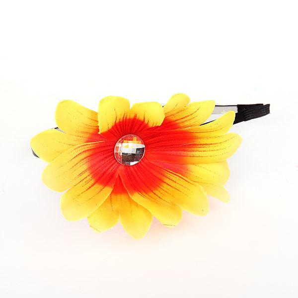 Ободок для волос ″Цветок со стразиком″, цвет микс купить оптом и в розницу