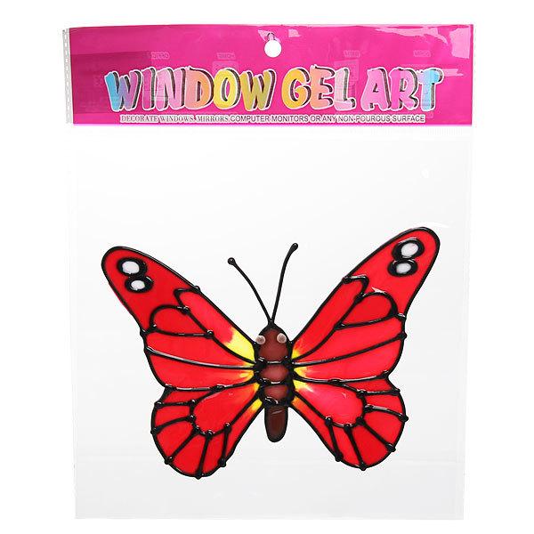 Наклейка силиконовая 20*25см ″Бабочка″ В2410 купить оптом и в розницу