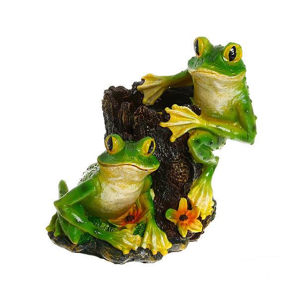 Кашпо для цветов садовое Лягушка 23х20см 2,0 л FOG211 купить оптом и в розницу