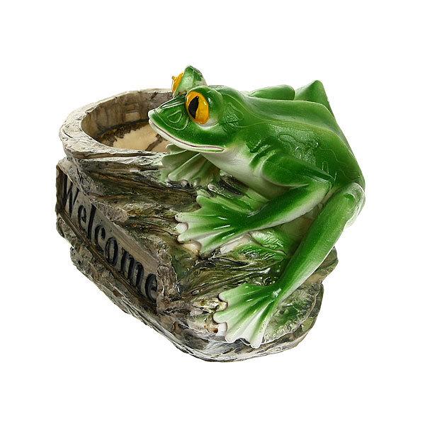 Кашпо для цветов садовое Лягушка 25х17см 2,0 л FOG203 купить оптом и в розницу