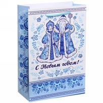 Пакет подарочный 15х22 см вертикальный ″С Новым годом!″, Гжель купить оптом и в розницу