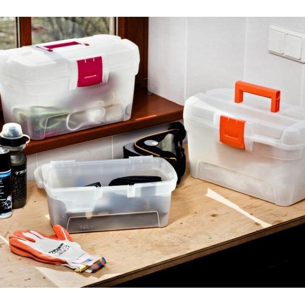 """Ящик для хранения  13"""" HEROBOX HOBBY COLORS прозрачн.оранж./*2 шт Curver 330*190*159 купить оптом и в розницу"""