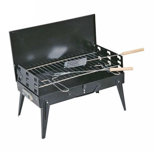 Жаровня-чемодан 41*21*5см с приборами: вилка и лопатка, BOYSCOUT купить оптом и в розницу
