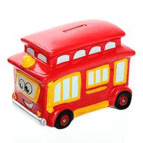 Копилка из керамики ″Веселый автобус″10*13см 5461-1 купить оптом и в розницу