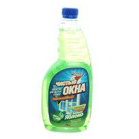 Средство для мытья стекол ЗОЛУШКА Чистые окна Зелёное яблоко сменный блок 750мл купить оптом и в розницу