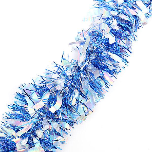 Мишура 2м 9см ″Иней″ синий купить оптом и в розницу