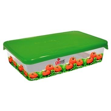 Емкость для продуктов Браво Овощи прямоугольная 0,9 л *45 купить оптом и в розницу