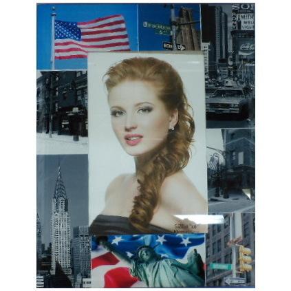 Фоторамка из стекла ″Городской стиль″ 10х15см Америка купить оптом и в розницу