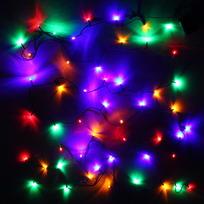 Гирлянда светодиодная 3,4м, 36 ламп LED, Мультицвет, 8 реж, зелен.пров. купить оптом и в розницу