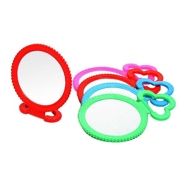 Зеркало настольное в пластиковой оправе ″Бусинки″ круг, подвесное d-12см купить оптом и в розницу
